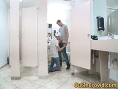Horny Twinks Having Gay Sucking And Fucking On The Public Toilet 3 By OutInCrowd