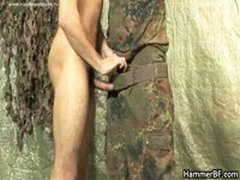 Hairy Soldier Jerking His Hard Jizzster 2 By HammerBF