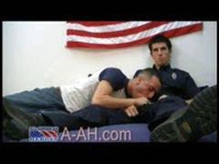 Str8 Firefighter Gets His Hose Blown