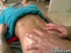 Muscled Hunk With Tattoos Fucking His Massage Pro 2 By GotRub