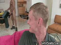 Horny White Guy Gets Assfucked By Big Black Jizzster 1 By GetsPainful