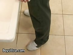 Good Looking Alex Pulling Off His Hard Penetrator Three By BoysXtra