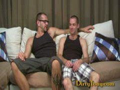 Tattooed Hairy Hunk Pounds Twink
