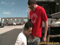 Hot Gay Sex On The Parking 4 By Outincrowd