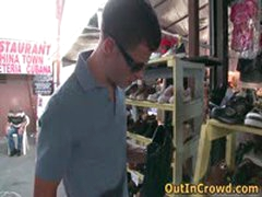 Twink Public Gay Fucking On The Flea Market 1 By OutInCrowd