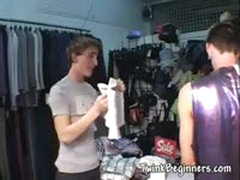 3 Cute Guys Fucking At The Store