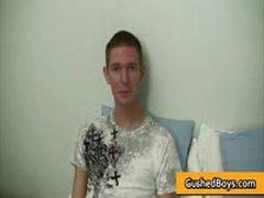 Derek Gets His Gay Twink Dick Jerked By GushedBoys