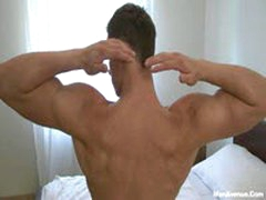 Five Cute Muscle Guys Beating Their Meat