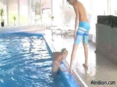 AlexBoys Arpard & Raoul Play In A Pool