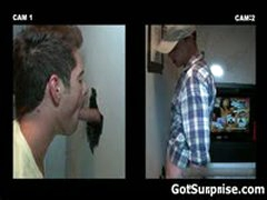 Straight Guy Sucked By Gay Guy Trough Hole 2 By GotSurprise