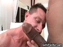 Tattooed Hunk Gets His Tiny Ass Fucked By Black Jizzster 3 By GetsPainful