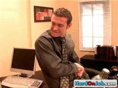 Hot Gay Office Threesome 5 By HardOnJob