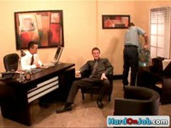 Hot Gay Office Threesome 3 By HardOnJob