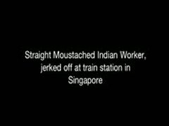 Straight Indian Worker Jerked Off At Train Station In Singapore
