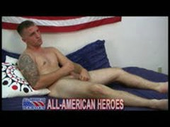 Hot Tattooed Marine Jerks His...