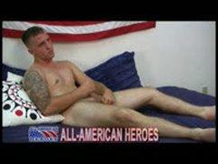 Hot Tattooed Marine Jerks His...