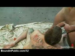 Painted Gay Gets Jizz On Hair In Paint Shop