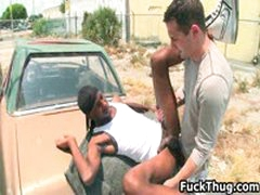 White Dude Gets Dick Sucked By Black Thug 9 By FuckThug