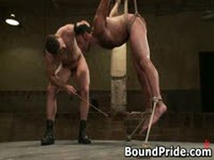 Penix And Gianni Hunky Studs Extreme BDSM Gay Porn 9 BoundPride