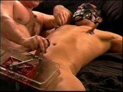 I Crush Hot Young Latino Muscle Stud Balls In Vise As I Jack Him Off Until He Cums.