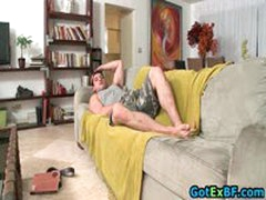 Dude Riding Gay Cock On Old Sofa 1 By GotExBF