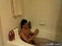 Hot Hunk Jacking Off In The Tub 7 By GotBF