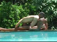 Interracial Pool Sex