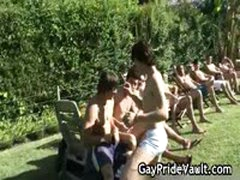 Outdoor Gay Gangbang Suck Fest 3 By GayPrideVault