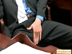 Blonde Dude Sucking Off His Boss For Pay Raise By Gotgayboss
