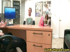 Hot Gay Guy Gets His Ass Buttered In Office 10 By GotButtered
