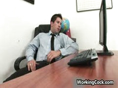 Andrew Blue Gets His Firm Cock Sucked In Office 3 By WorkingCock