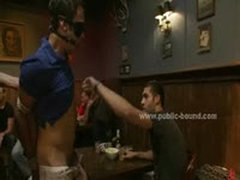 Gay Sex Slave In Chain Leish On His Knees Pleasing A Group Of Horny Masters