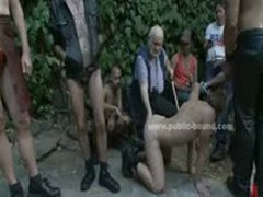 Gay Man In Leather Leish Getting Fucked In Gay Sado Maso Dirty Gang Bang