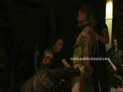 Gay Sex Slave  To Fuck By Group Of Extreme Men In Rough Bondage Gang Bang