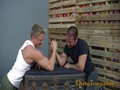 Masculine Hairy Hunk Drills Hole