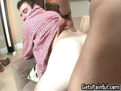 Poor White Guy Sucks Enormous Black Cock 5 GetsPainful