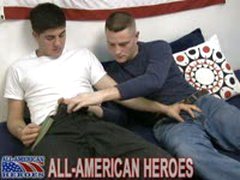 Army Stud Pounds Sailor