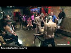 Bound Gay Gangbanged On The Table