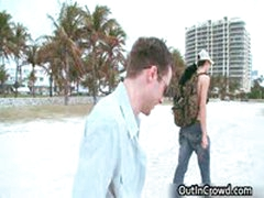 Dude Gets His Fine Cock Sucked On Beach 9 By OutInCrowd
