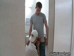 Guy Riding Fat Cock In Public Toilet 5 By OutInCrowd