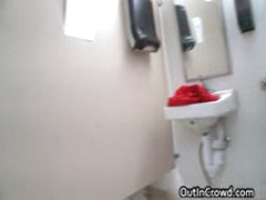 Guy Riding Fat Cock In Public Toilet 17 By OutInCrowd