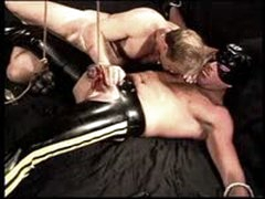 CBT Jim Robers Balls Bashed And 56lbs Hung On Those Very Swollen Balls.