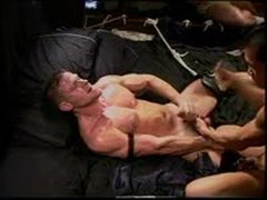 CBT Hot Hung Smooth Muscle Stud Has Balls Hammered And Punched By Another Hot Smooth Muscle Stud.