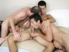 Buddies At Play With Straight Boy