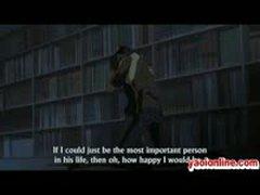 Hentai Guy And His Boyfriend Hugging
