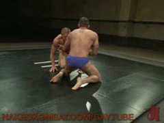 Two Hot, Hung Studs Wrestle