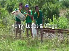 AlexBoys Harry Lucas & Diego Harry, Lucas And Diego Threesome Boy Scouts Outdoor Fucking