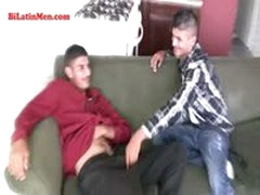 Two Hot Latin Papis With Big Uncut Dicks Suck Each Other Up Then Fuck