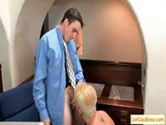 Blond Guy Sucking His Boss For Raise By Gotgayboss