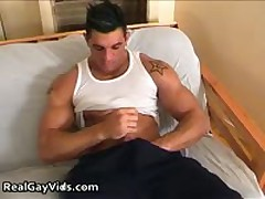 Chris N Masturbating His Awesome Firm Gay Hardon 1 By RealGayVids
